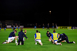 Slovenian players at warming up before the last 2010 FIFA World Cup South Africa Qualifying match in Group 3 between San Marino and Slovenia, on October 14, 2009, in Olimpico Stadium, Serravalle, San Marino. Slovenia won 3:0. (Photo by Vid Ponikvar / Sportida)