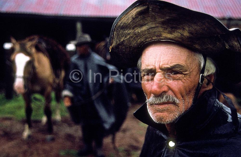 Portrait of a gaucho on Vista Alegre ranch, Vichadero,northern Uruguay
