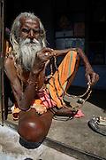 Ram Sebak Das, a Sadhu living on Galta Hill, Jaipur