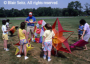 Outdoor recreation, Group of Children with Kites,