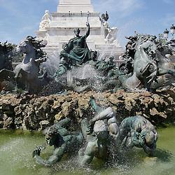 20110627 - France , Bordeaux - Fontaine des Girondins .Photo : Patrick Mascart / Scorpix