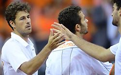 13-09-2014 NED: Davis Cup Nederland - Kroatie, Amsterdam<br /> Nederland verliest de dubbel en staat op de tweede dag met 2-1 achter / Robin Haase