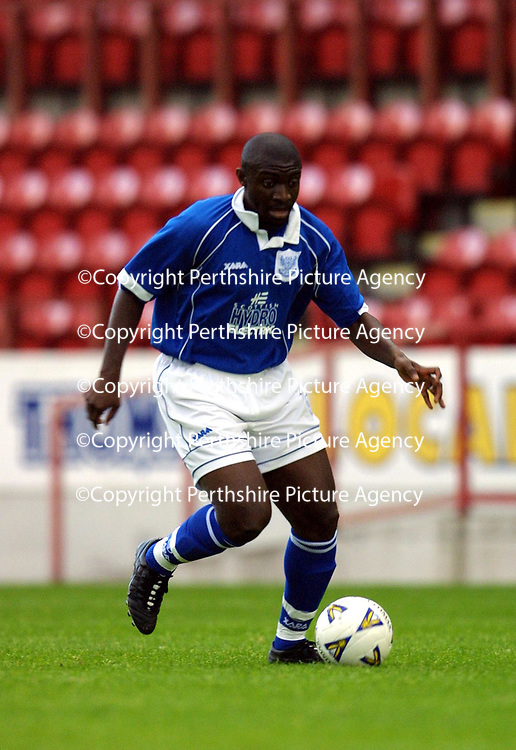 St Johnstone FC 2001/02<br />French trialist<br /><br />Pic by Graeme Hart<br />Copyright Perthshire Picture Agency<br />Tel: 01738 623350 / 07990 594431