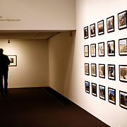 """Sound and print installation in a grid for """"Zhari-Panjwaii: Dispatches from Afghanistan"""" exhibition at Dalhousie University Art Gallery in Halifax, Nova Scotia, Canada in 2009. Also exhibited at Gallery TPW in Toronto, Canada, curated by Blake Fitzpatrick."""