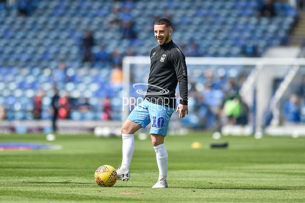 Coventry City Forward, Conor Chaplin (10) during the EFL Sky Bet League 1 match between Portsmouth and Coventry City at Fratton Park, Portsmouth, England on 22 April 2019.