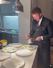 David Beckham in the kitchen - 22 June 2021