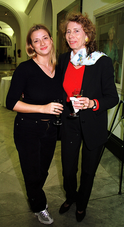 Left to right, MISS LAURA PATTEN and her mother MRS CHRIS PATTEN wife of the last Governor of Hong Kong, at a reception in London on 18th October 1999.<br /> MXX 32