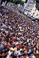 All the streets of Belém are packed with believers singing and praying