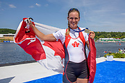 Poznan, POLAND, 23rd June 2019, Sunday, CAN W1X, Bronze Medalist Carling ZEEMAN, FISA World Rowing Cup II, Malta Lake Course, © Peter SPURRIER/Intersport Images, <br /> <br /> <br /> 14:45:55