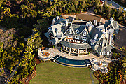 Aerial view of a private luxury home on Kiawah Island, South Carolina.