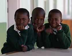 Nov. 21, 2014 - Mthatha, Eastern Cape, South Africa - A group of school children Mandela's homeland of Mthatha. Mthatha, Eastern Cape, South Africa. (Picture by: Artur Widak/NurPhoto) (Credit Image: © Artur Widak/NurPhoto/ZUMA Wire)