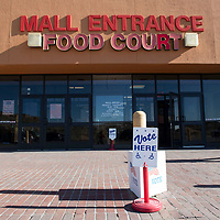 A polling location at Rio West Mall Tuesday afternoon in Gallup.