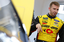 March 2, 2018 - Las Vegas, Nevada, United States of America - March 02, 2018 - Las Vegas, Nevada, USA: Matt DiBenedetto (32) hangs out in the garage during practice for the Pennzoil 400 at Las Vegas Motor Speedway in Las Vegas, Nevada. (Credit Image: © Chris Owens Asp Inc/ASP via ZUMA Wire)