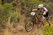 Christoph Sauser of Team Meerendal Songo Specialzed pushes up a steep climb during stage 1 of the 2014 Absa Cape Epic Mountain Bike stage race held from Arabella Wines in Robertson, South Africa on the 24 March 2014<br /> <br /> Photo by Greg Beadle/Cape Epic/SPORTZPICS
