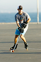22 January 2011: Darren Partch playing outdoor roller hockey on the blacktop in Newport Beach,CA.  <br /> <br /> >On April 25, 2019, the Newport Beach Police Department arrested Jamon Rayon Buggs, a 44 year old resident of Huntington Beach, for the murder of Darren Donald Partch, a 38 year old resident of Newport Beach, and Wendi Sue Miller, a 48 year old resident of Costa Mesa. The victims were found deceased inside a residence in the 2100 Block of East 15th Street in Newport Beach on the evening of April 21, 2019.