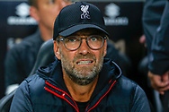 Liverpool manager Jurgen Klopp during the EFL Cup match between Milton Keynes Dons and Liverpool at stadium:mk, Milton Keynes, England on 25 September 2019.