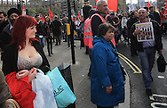 Over 100,000 people marched through London against the UK Government's austerity measures.
