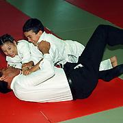 Opening gehandicapten judo jeugdtoernooi politieburo Huizen door burgemeester Verdier