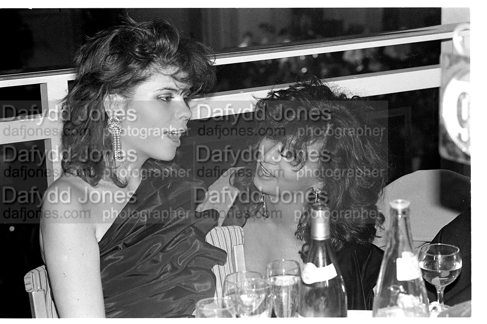 IVANA LOWELL; YASSI MAZANDI, George Washington Ball, Grosvenor House. London. 25 February 1987, <br /> <br /> SUPPLIED FOR ONE-TIME USE ONLY> DO NOT ARCHIVE. © Copyright Photograph by Dafydd Jones 248 Clapham Rd.  London SW90PZ Tel 020 7820 0771 www.dafjones.com