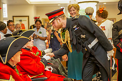 Britain's Prince Harry visiting the Royal Hospital Chelsea on to review the Chelsea Pensioners at the annual Founder's Day Parade. Six veterans from the Normandy Landings took part. The parade commemorates King Charles II's founding of the Royal Hospital Chelsea in 1681. Founder's Day is also known as Oak Apple Day referring to the oak tree that King Charles II hid in to avoid being captured by Parliamentary forces after the Battle of Worcester in 1651. REF - MD EXPRESS SYNDICATION +44 (0)20 8612 7884/7903/7661 +44 (0)20 7098 2764 NO ONLINE MOBILE OR DIGITAL USE WITHOUT PRIOR PERMISSION *** Local Caption *** No digital use of this image unless agreed with Express Syndication or Licensed agent of Express prior to usage. Non cleared usage will be charged at treble space rates NO UK SALES FOR 28 DAYS. NO GETTY SALES. 06 Jun 2019 Pictured: Britain's Prince Harry visiting the Royal Hospital Chelsea on to review the Chelsea Pensioners at the annual Founder's Day Parade. Six veterans from the Normandy Landings took part. The parade commemorates King Charles II's founding of the Royal Hospital Chelsea in 1681. Founder's Day is also known as Oak Apple Day referring to the oak tree that King Charles II hid in to avoid being captured by Parliamentary forces after the Battle of Worcester in 1651. REF - MD EXPRESS SYNDICATION +44 (0)20 8612 7884/7903/7661 +44 (0)20 7098 2764 NO ONLINE MOBILE OR DIGITAL USE WITHOUT PRIOR PERMISSION *** Local Caption *** No digital use of this image unless agreed with Express Syndication or Licensed agent of Express prior to usage. Non cleared usage will be charged at treble space rates NO UK SALES FOR 28 DAYS. NO GETTY SALES. Photo credit: MD/EXPRESS SYNDICATION / MEGA TheMegaAgency.com +1 888 505 6342