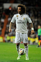 Real Madrid´s Marcelo Vieira during 2014-15 La Liga match between Real Madrid and Villarreal CF at Santiago Bernabeu stadium in Madrid, Spain. March 01, 2015. (ALTERPHOTOS/Luis Fernandez)
