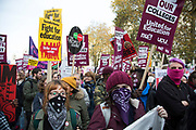 National Union of Students (NUS) and the University and College Union (UCU) demonstration 'United For Education' calling for free, accessible and quality further and higher education across the UK, and to demand an end to the marketisation of university and college education on 19th November 2016 in London, United Kingdom. (photo by Mike Kemp/In Pictures via Getty Images)