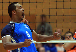 Dos Santos Israel at finals of Slovenian volleyball cup between OK ACH Volley and OK Salonit Anhovo Kanal, on December 27, 2008, in Nova Gorica, Slovenia. ACH Volley won 3:2.(Photo by Vid Ponikvar / SportIda).