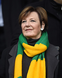 Noriwch City Joint Majority Shareholder Delia Smith during the Skybet Championship match at Portman Road, Ipswich.