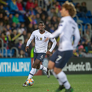 ANDORRA LA VELLA, ANDORRA. June 1.  Paul Pogba #6 of France and Antoine Griezmann #7 of France in action during the Andorra V France 2020 European Championship Qualifying, Group H match at the Estadi Nacional d'Andorra on June 11th 2019 in Andorra (Photo by Tim Clayton/Corbis via Getty Images)