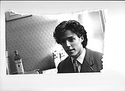 Hugh Grant. Piers gaveston meeting. Norreys ave. Oxford. 1980.