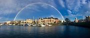 Panoramic, Rainbow, Victoria Harbor, Victoria, British Columbia, Canada