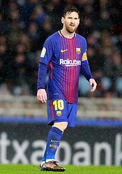 FC Barcelona's Leo Messi during La Liga Real Sociedad v FC Barcelona match in San Sebastian-Donostia, Spain, January 14, 2018. Photo by Acero/AlterPhotos/ABACAPRESS.COM