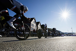 September 16, 2017 - Bergen, NORWAY - 170916 Athletes are passing Bryggen during the time trial training session on September 16, 2017 in Bergen..Photo: Jon Olav Nesvold / BILDBYRN / kod JE / 160014 (Credit Image: © Jon Olav Nesvold/Bildbyran via ZUMA Wire)