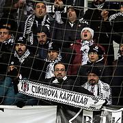 Besiktas's supporters during their Turkish Super League soccer match Kayserispor between Besiktas at the Kadir Has Stadium in Kayseri Turkey on Saturday 05 December 2015. Photo by Kurtulus YILMAZ/TURKPIX