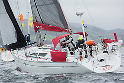 Caledonia MacBrayne Largs Regatta Week 2016<br /> <br /> 2 handed race - Aztec - John and Hillary Connelly <br /> <br /> Credit Marc Turner / PFM Pictures.co.uk