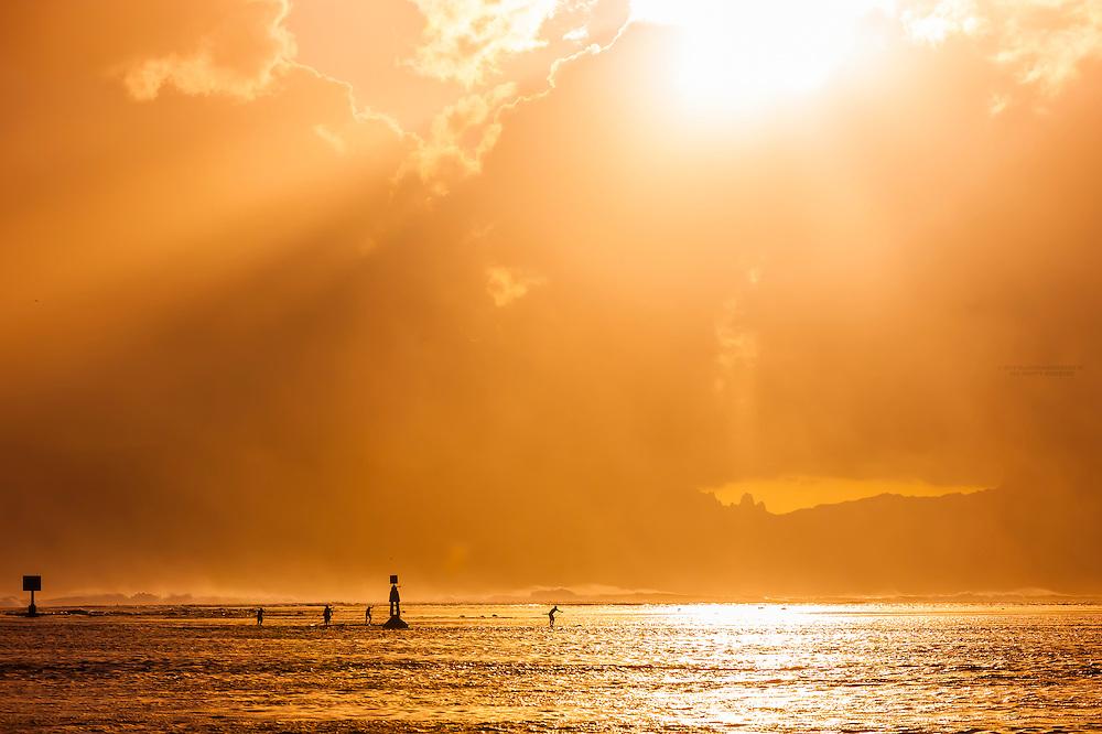 Sunset, Tahiti, French Polynesia.