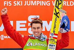 26.03.2017, Planica, Ratece, SLO, FIS Weltcup Ski Sprung, Planica, Siegerehrung, im Bild Sieger Stefan Kraft (AUT) // Winner Stefan Kraft of Austria during the Winner Award Ceremony of the FIS Ski Jumping World Cup Final 2017 at Planica in Ratece, Slovenia on 2017/03/26. EXPA Pictures © 2017, PhotoCredit: EXPA/ JFK
