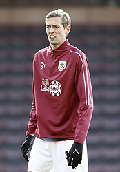 Burnley's Peter Crouch warms up prior to the match