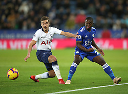 Tottenham Hotspur's Harry Winks (left) and Leicester City's Wilfred Ndidi battle for the ball during the Premier League match at the King Power Stadium, Leicester.