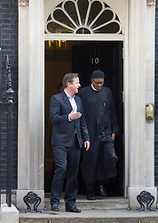 © Licensed to London News Pictures. 23/05/2015. London, UK.British Prime Minister David Cameron meets President of Nigeria, General Muhammadu Buhari, at 10 Downing Street, central London. Photo credit : Isabel Infantes/LNP
