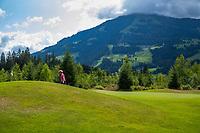 WESTENDORF -  Tirol   Oostenrijk,  -  hole 6 . Golfanlage Kitzbuheler Alpen Westendorf.    COPYRIGHT KOEN SUYK