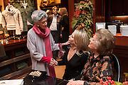 JAYA THADANI; WENDY KNATCHBULL; LADY PAMELA HICKS;  Book launch for ' Daughter of Empire - Life as a Mountbatten' by Lady Pamela Hicks. Ralph Lauren, 1 New Bond St. London. 12 November 2012.
