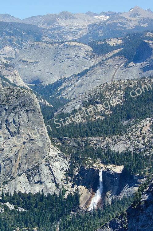 Nevada Falls fviewed rom Glacier Point in Yosemite.
