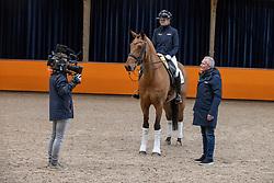 Van Zwambagt Febe, NED, Fyeo, Van Silfhout Alex<br /> Fotodag KWPN Hengstenkeuring 2021<br /> © Hippo Foto - Dirk Caremans<br /> 09/01/2021