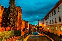 Old City Walls illumintated a twilight, Cordoba, Cordoba Province, Andalusia, Spain.