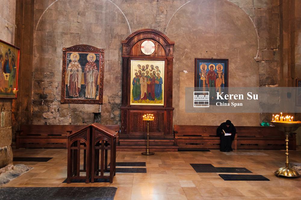 Inside Svetitskhoveli Church, Historical Monuments of Mtskheta, UNESCO World Heritage site, Georgia