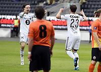 Fotball <br /> UEFA Europa League Qualification<br /> 23.07.2015<br /> Rosenborg v KR Reykjavik<br /> Foto: Tor Inge Langberg/Digitalsport<br /> <br /> RBK jubler for scoring og avansement