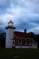 Built in 1883, the Sherwood Point Lighthouse was built to assist passage through Sturgeon Bay from Green Bay. .The lighthouse is 35ft tall, and is located on a bluff above Green Bay.