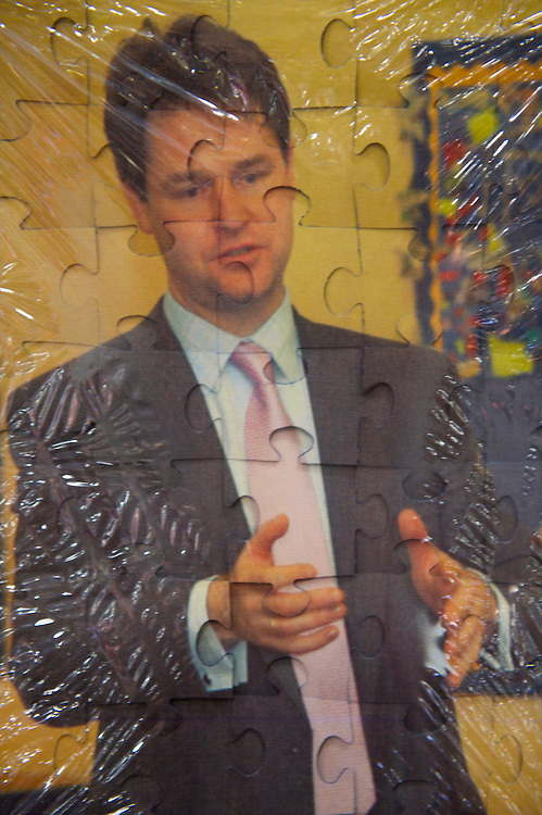 A jigsaw puzzle was among the many souvenirs on sale to delegates attending the Liberal Democrat Autumn Conference in Liverpool on 19 September 2010.  This was the first party conference since the government coalition with the tories.
