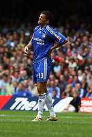 Michael Ballack Grimaces in pain after a heavy tackle<br />Chelsea 2006/07<br />Chelsea V Liverpool (1-2) The FA Community Shield at the Millenium Stadium in Cardiff 13/08/06<br />Photo Robin Parker Fotosports International